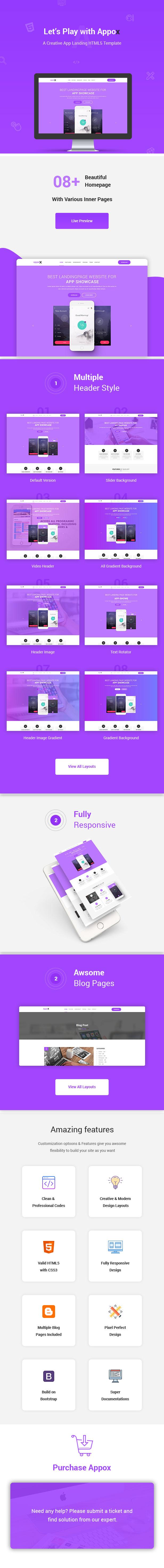 Appox- Responsive HTML5 App Landing Template