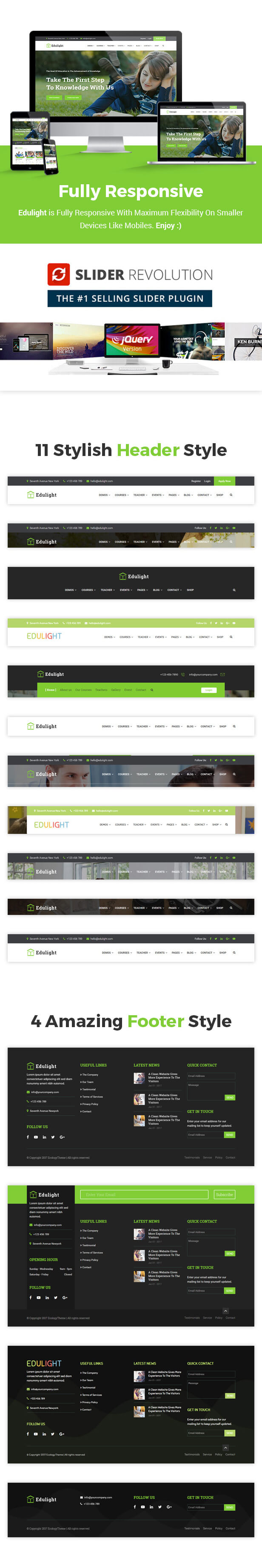 EduLight - University Education Template